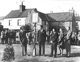 Presentation of the Best Kept Village Award, 1965