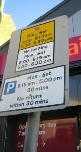 Parking Sign Duttons Hill mod