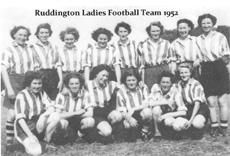 Ruddington Ladies Football Team 1952 cropped resized