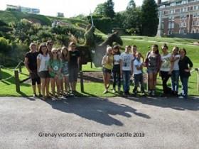 Grenay visitors at Nottingham Castle 2013
