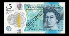New Plastic £5 note