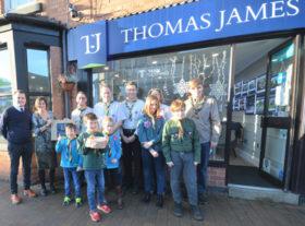 Thomas James cheque presentation