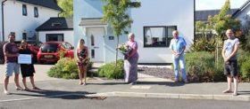 Flowers being presented