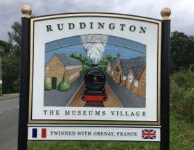Ruddington's boundary sign
