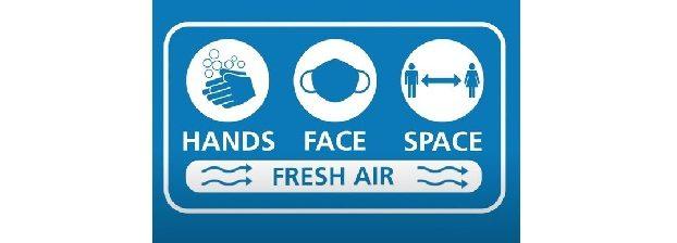 Hands face space fresh air
