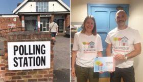 Neighbourhood Plan volunteers and Polling Station