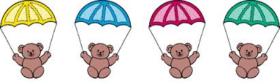 Teddy Bears parachuting